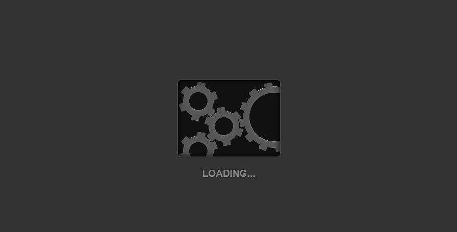 深色背景创意齿轮转动加载loading动画效果代码