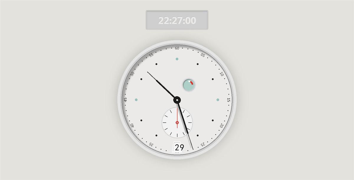 CSS+JS制作漂亮挂钟代码
