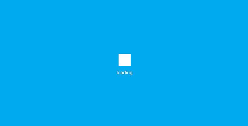 CSS3实现蓝色背景方块下落叠加loading代码