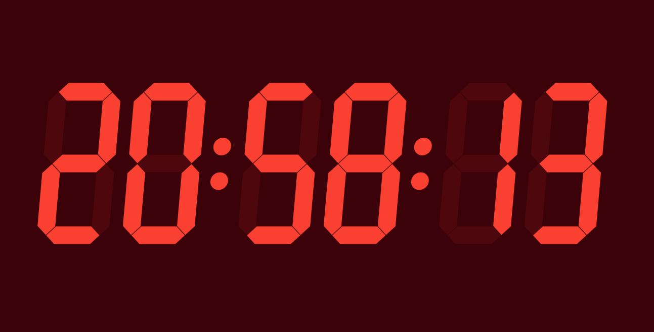 CSS3实现LED数字时钟效果代码html 可调整颜色