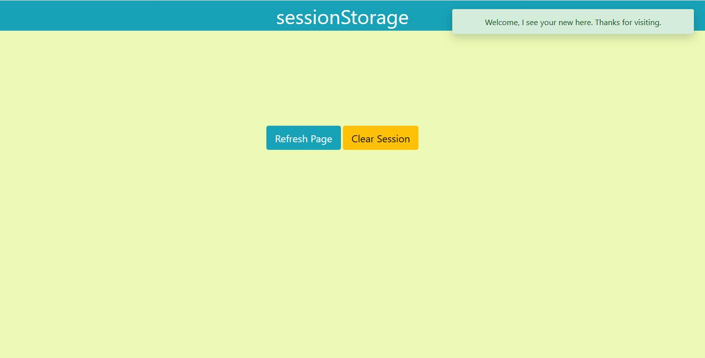 基于bootstrap 4实现session存储显示弹出提醒html代码