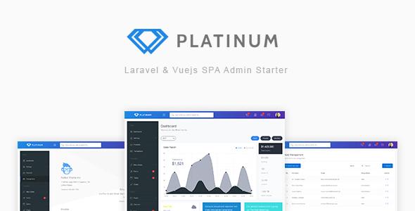 Platinum:Laravel+Vuejs框架开发PHP后台管理系统源码