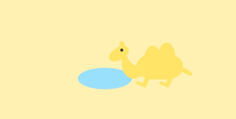 CSS+JS实现骆驼喝水动画效果代码下载