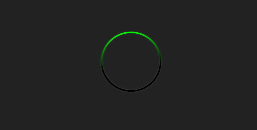 CSS3制作黑色背景绿色圆圈加载loading代码