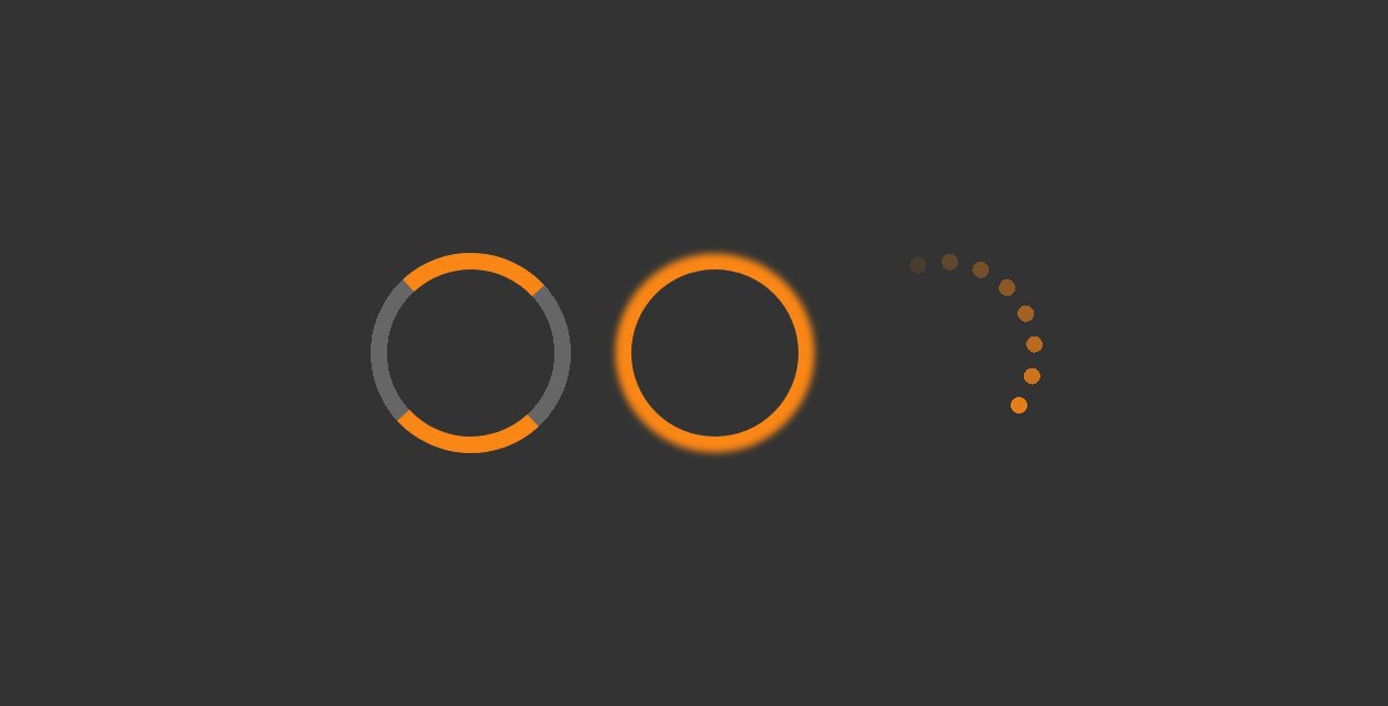 Pure CSS3制作金色网页加载loading图标代码