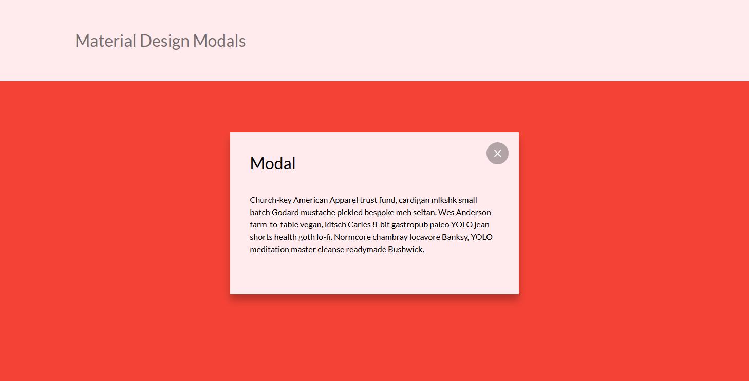 漂亮自适应Material风格点击弹出div层html代码