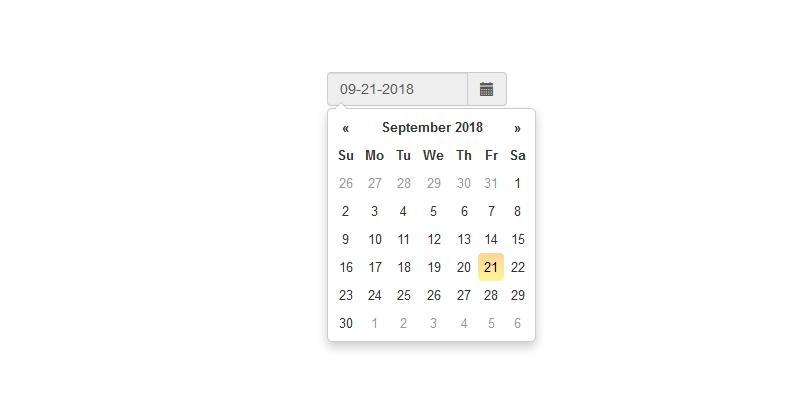 基于bootstrap的datepicker时间选择器代码下载