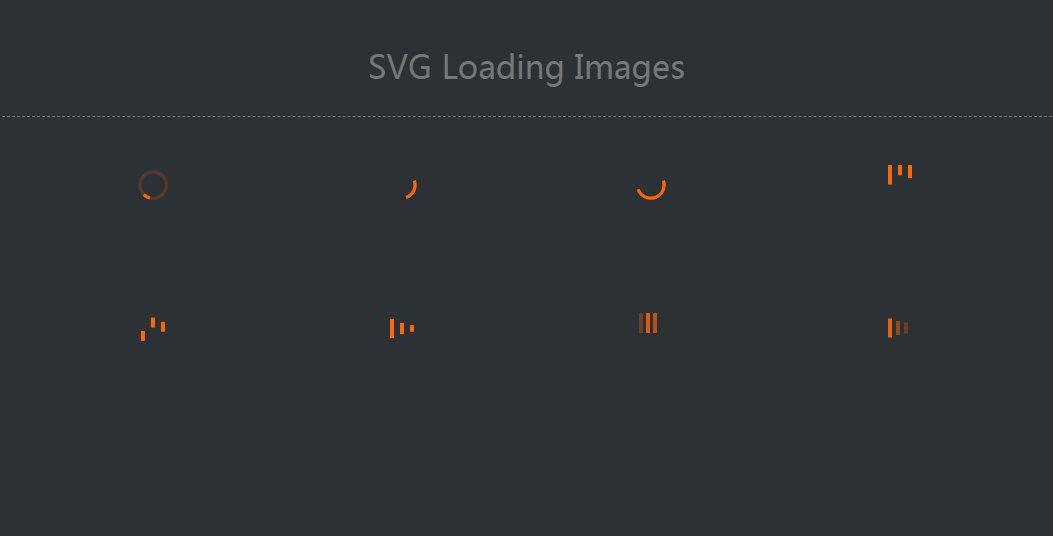 8个svg金色图标加载loading图标代码