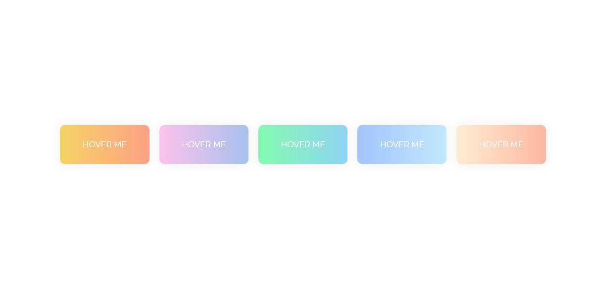 五种超级时尚漂亮的渐变颜色按钮样式 鼠标经过效果代码下载