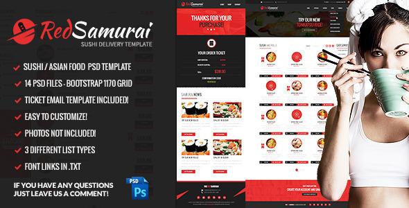 Red Samurai PSD网页模板
