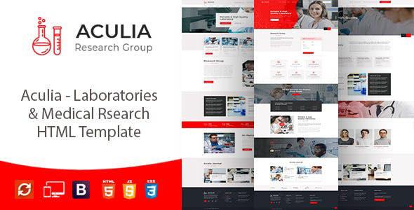 Aculia:漂亮大气红色风格化学实验室官网html5网页模板