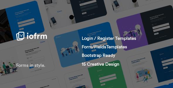 Iofrm:登录注册表单页面html模板 界面设计效果一流