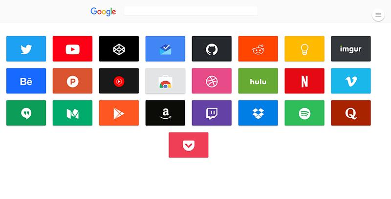 仿谷歌导航首页图标导航HTML网页模板 自适应设备响应式设计 可做网址导航
