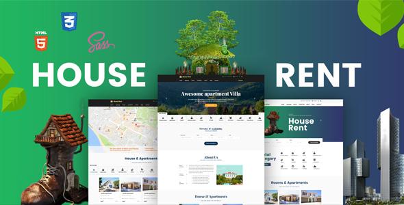HouseRent:多概念住宅,公寓出租html5网页模板