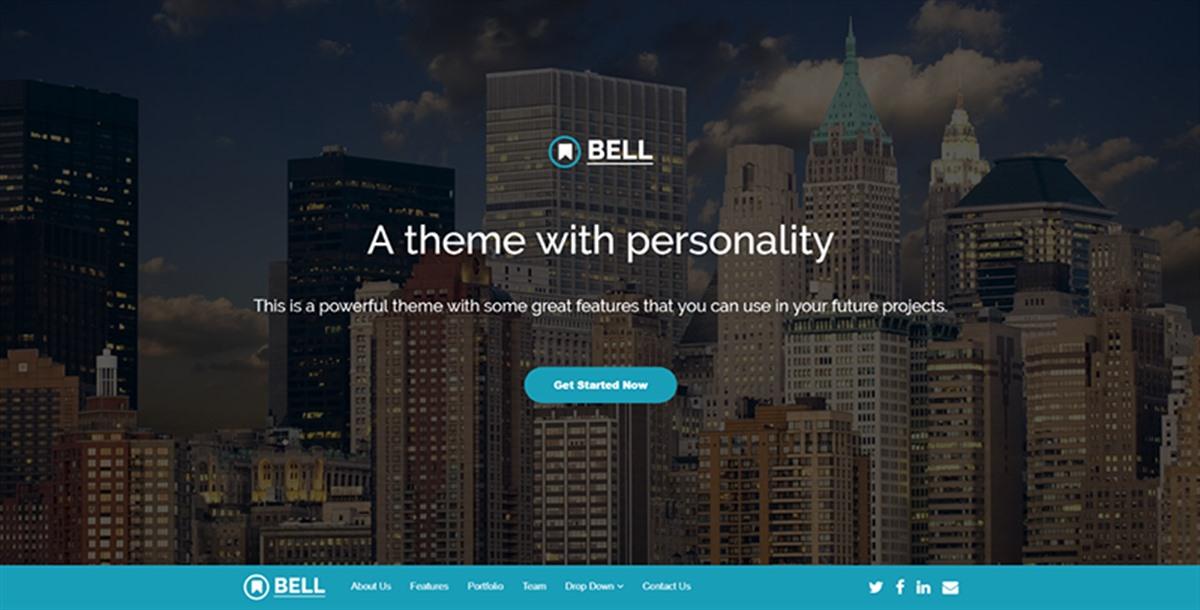 bell:青色主题企业html5网页模板