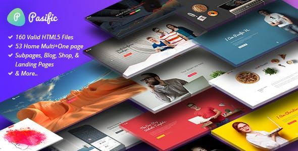 Pasific:多功能企业网站html5网页模板
