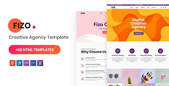 Fizo:紫色大气自适应网站html5模板单页