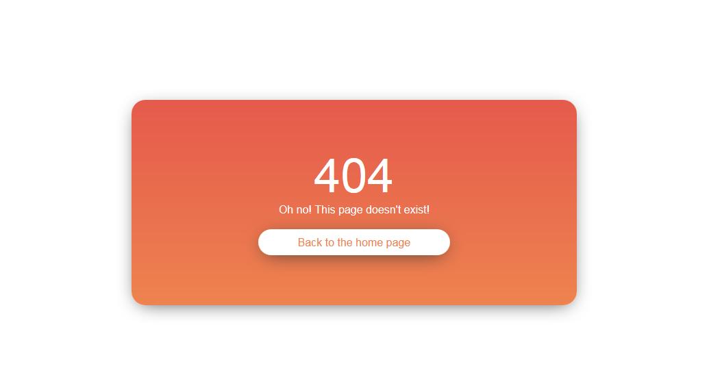 橙色框404错误页html网页模板