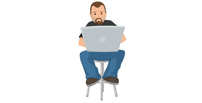 创意程序员编程大叔动画效果404页面html5模板