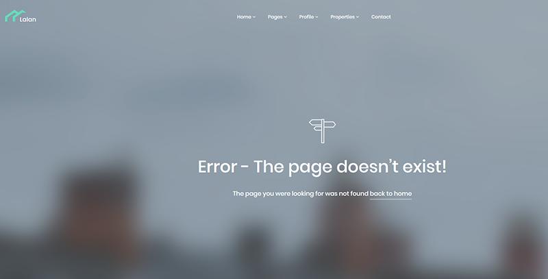 Lalan:简洁大气国外房产经纪公司html5网页模板