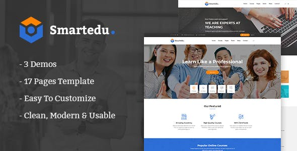 Smartedu:3种风格简洁学校教育行业网站html5模板