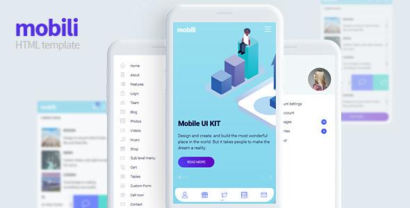 Mobili :豪华多功能mobile手机网页模板