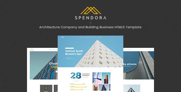 Spendora:创意多功能艺术建筑设计网站PSD网页模板