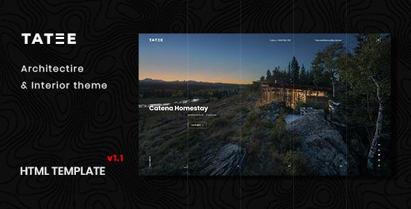 Tatee:创意概念建筑设计网站PSD网页模板
