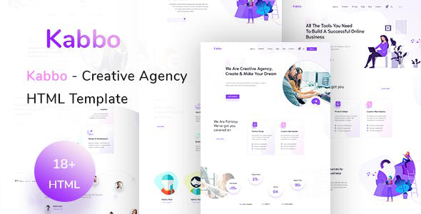 Kabbo:紫色主题颜色时尚设计企业公司html5模板