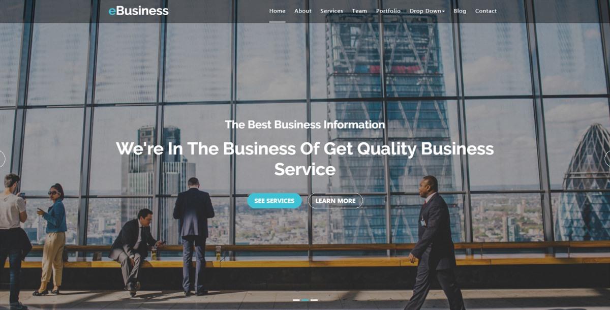eBusiness:漂亮设计多功能商务企业公司html5网页模板