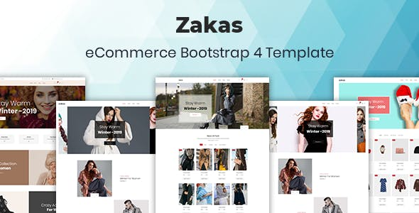 Zakas:简洁时尚服装在线销售商城html5模板