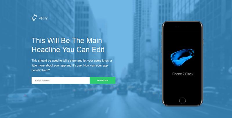 Appy:App应用介绍页Landing Page html模板