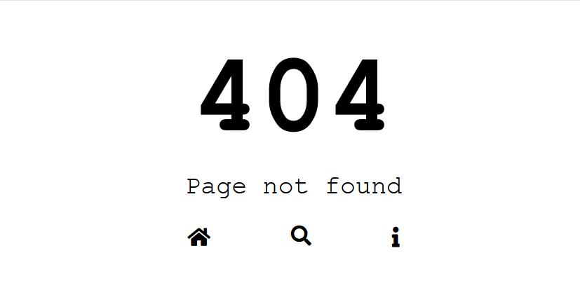 带按钮搜索框 超简洁404错误页html网页模板