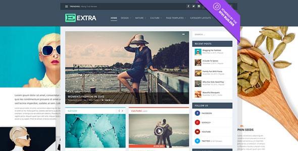 Extra:高级新闻资讯网站WordPress模板