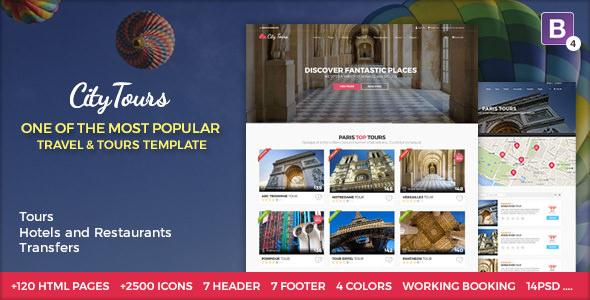 CityTours:城市旅游票务、导游服务、旅游网站HTML5网页模板