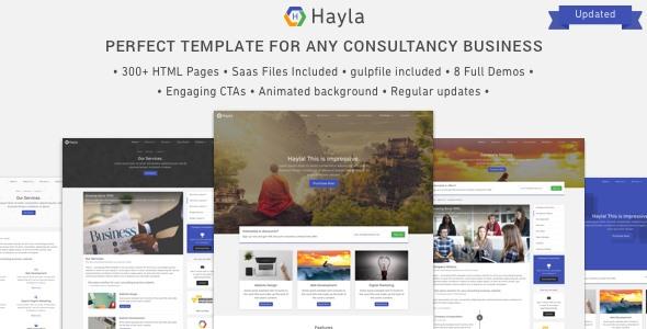 Hayla:大气自适应多功能商业公司html5网页模板