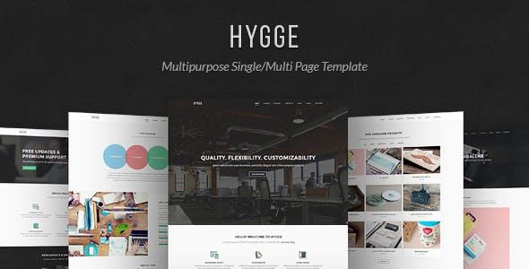 Hygge:自适应灰色大气设计公司企业html5模板