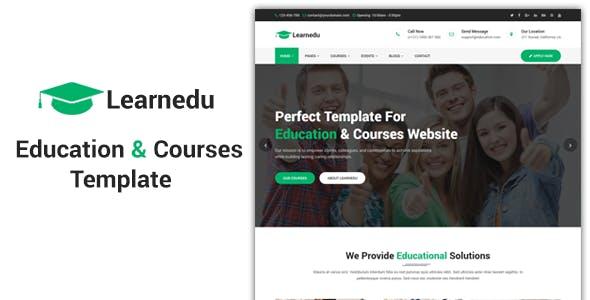 Learnedu:绿色主题自适应国外学校教育行业网站html5模板