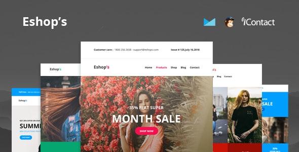 Eshop's Mail:红色主题自适应设计email邮件网页html5模板
