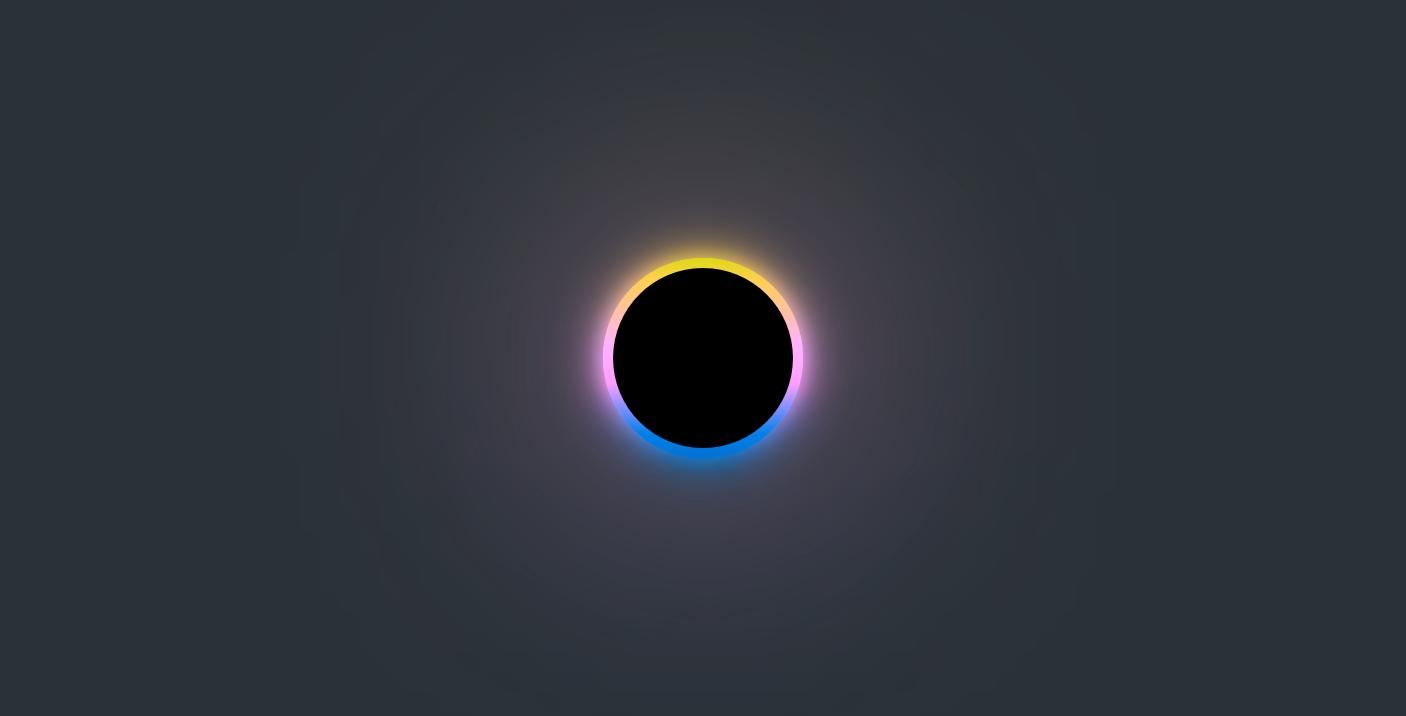 黑色多彩圆圈旋转加载效果html代码