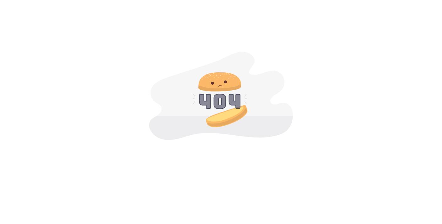 简洁创意面包404错误页html模板