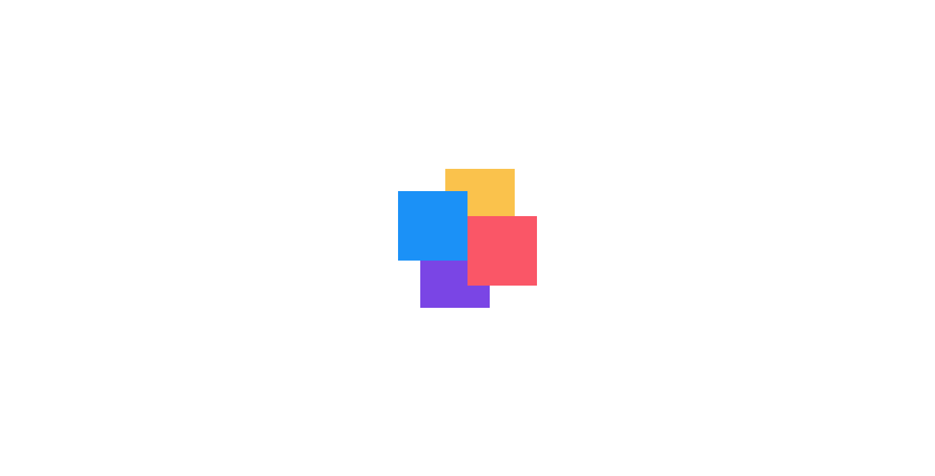 四色方块旋转加载动画网页代码