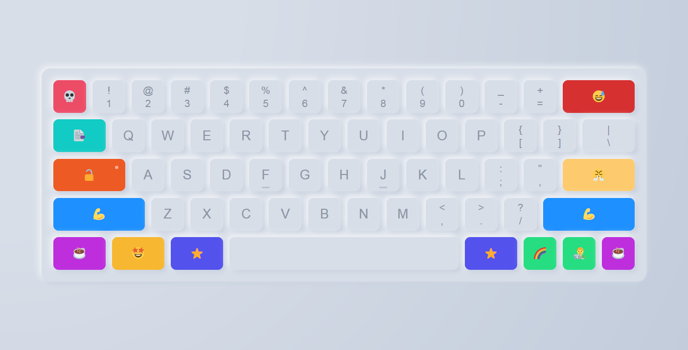 CSS3制作漂亮的网页键盘html代码