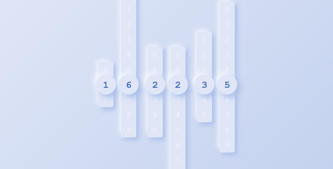 创意上下滑动时钟html网页代码