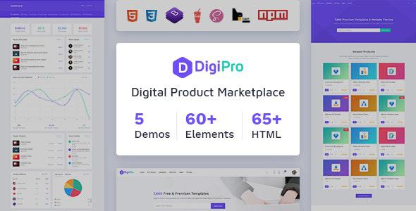 DigiPro:蓝色大气模板素材资源在线下载站html5模板