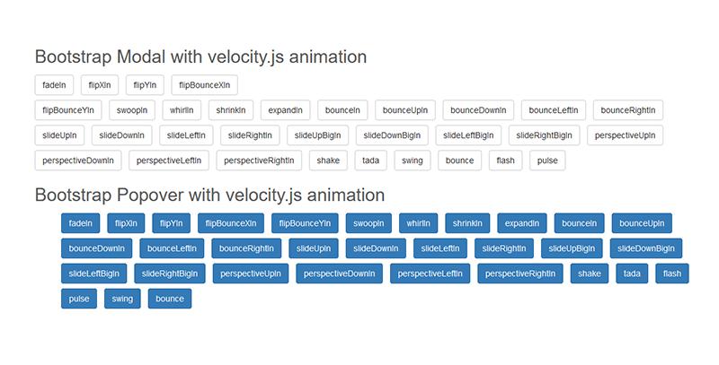 bootstrap+velocity.js实现多种弹出窗口代码Modal+Popover