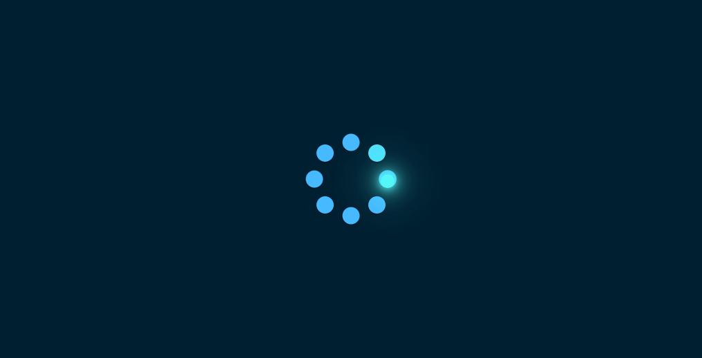简洁实用圆点发光旋转加载loading特效代码