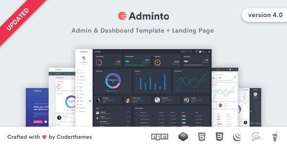 Adminto:简洁实用多功能后台管理界面html网页模板