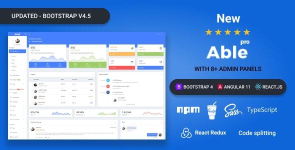 Able pro:豪华多功能后台管理界面html5模板 160+html