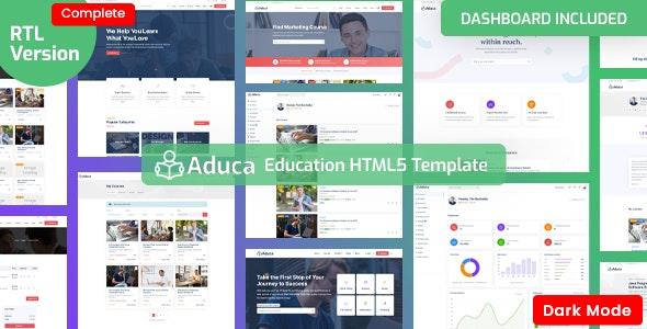 Aduca:国外在线课程学习网课平台html5模板